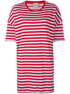 полосатая футболка свободного кроя  Laneus