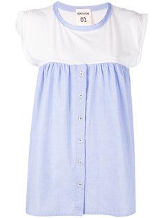блузка с контрастными панелями Erika Cavallini