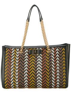 плетеная сумка на плечо  Salvatore Ferragamo