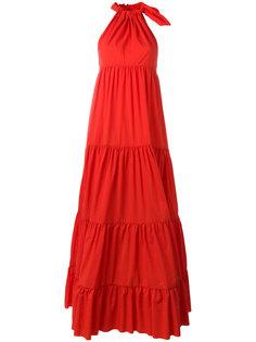 расклешенное длинное платье  Marquesalmeida