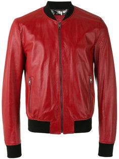 перфорированная куртка-бомбер   Dolce & Gabbana