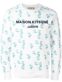 толстовка с геометрическим принтом Maison Kitsuné