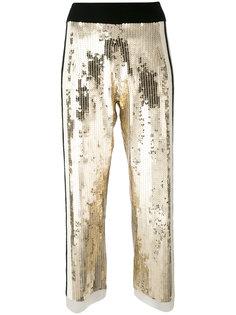 укороченные брюки с пайетками Aviù