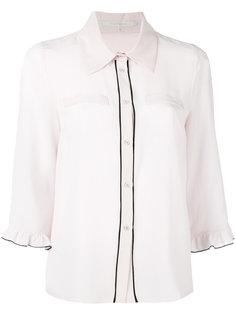 ruffled trim shirt  LAutre Chose