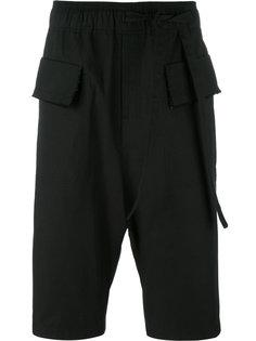 flap pockets drawstring shorts Damir Doma