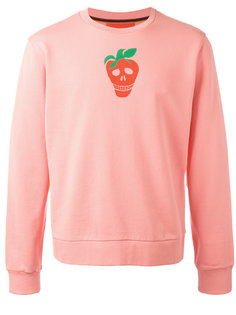 strawberry skull print sweatshirt Paul Smith