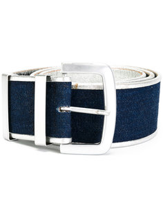 denim belt Krizia Vintage