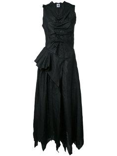 draped buttoned midi dress Aganovich