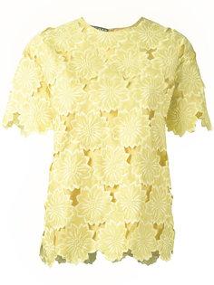 блузка с кружевной отделкой Rochas