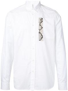 рубашка с отделкой с эффектом змеиной кожи Oamc