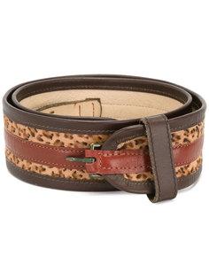 leopard print striped belt Kenzo Vintage