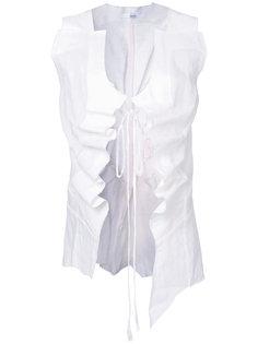 drawstring sheer waistcoat Aganovich