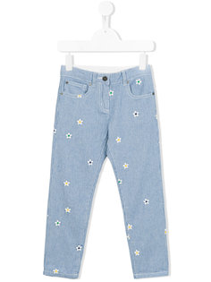 striped daisy detail trousers Stella Mccartney Kids
