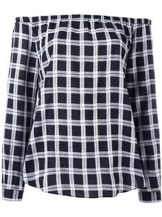 checked off-shoulder blouse Rag & Bone /Jean
