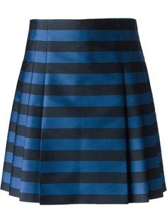 юбка в полоску со складками Red Valentino