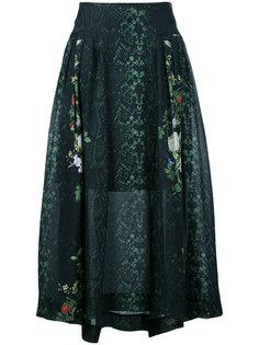 printed flared skirt  Preen By Thornton Bregazzi