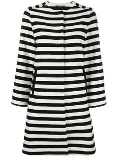 horizontal stripe coat Odeeh