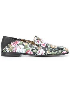 floral print loafers Alexander McQueen