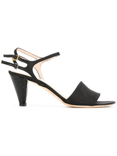 block pyramid heel sandals Fendi Vintage