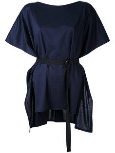 belted shortsleeved blouse Taro Horiuchi