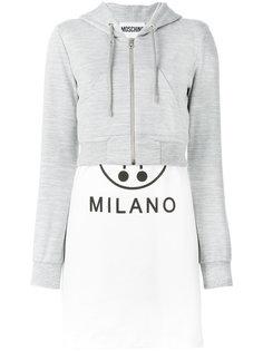 hybrid hoodie dress Moschino