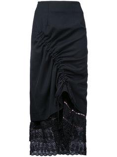 lace trim drawstring skirt  Preen By Thornton Bregazzi