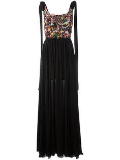 pleated trim dress  Elie Saab