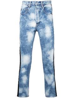выбеленные джинсы Doublet