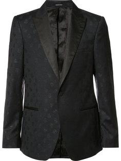 жаккардовый пиджак с принтом черепов Alexander McQueen