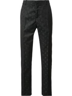 жаккардовые брюки с принтом черепов Alexander McQueen