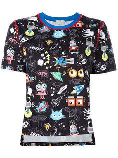 футболка с рисунком Monster Space Fendi