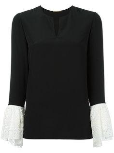 блузка с контрастными манжетами Saint Laurent