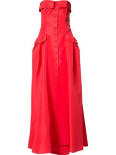 длинное платье Faille Bustier  Carolina Herrera