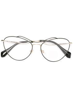 объемные очки Miu Miu Eyewear