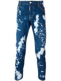 джинсы кроя скинни с линялым эффектом  Dsquared2