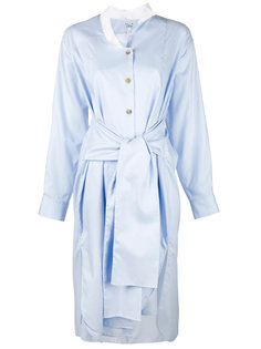 платье-рубашка с завязками на талии Loewe