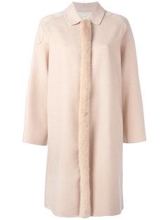 кашемировое пальто с норковым мехом Agnona
