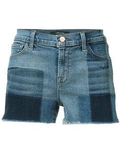 джинсовые шорты в клетку J Brand