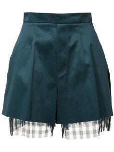 многослойные шорты с необработанными краями Yang Li