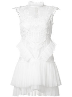 многослойное платье с плиссировкой Jonathan Simkhai