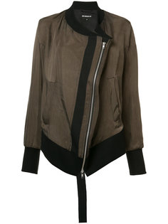 куртка бомбер с диагональной молнией Ann Demeulemeester Blanche