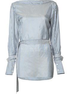 блузка в полоску с поясом Calvin Klein