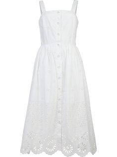платье миди с выбитым узором Sea
