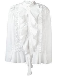 плиссированная рубашка с рюшами Twin-Set