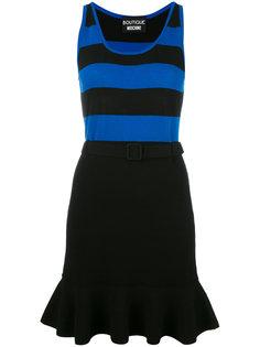 платье с полосатым лифом и оборкой Boutique Moschino