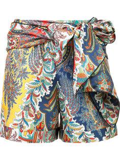 шорты с завязками на поясе Oscar de la Renta