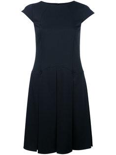 платье с юбкой в складку и рукавами-кап Jil Sander Navy