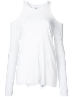 футболка с вырезами на плечах Zoe Karssen