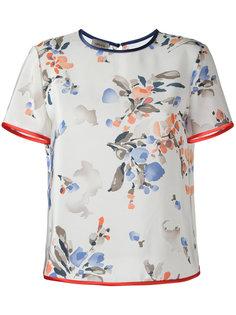 футболка с цветочным узором Armani Collezioni