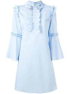 расклешенное платье с оборками Vivetta